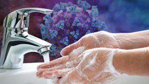 Обработка рук против вирусов